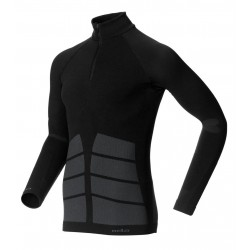 Odlo Shirt 1/2 zip ML Evolution Warm Homme - noir