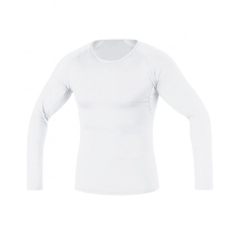 Gore Running Wear Essential BL shirt long Homme - blanc