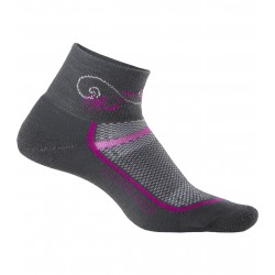Icebreaker Multisport Cushion Mini Femme - anthracite/fuschia