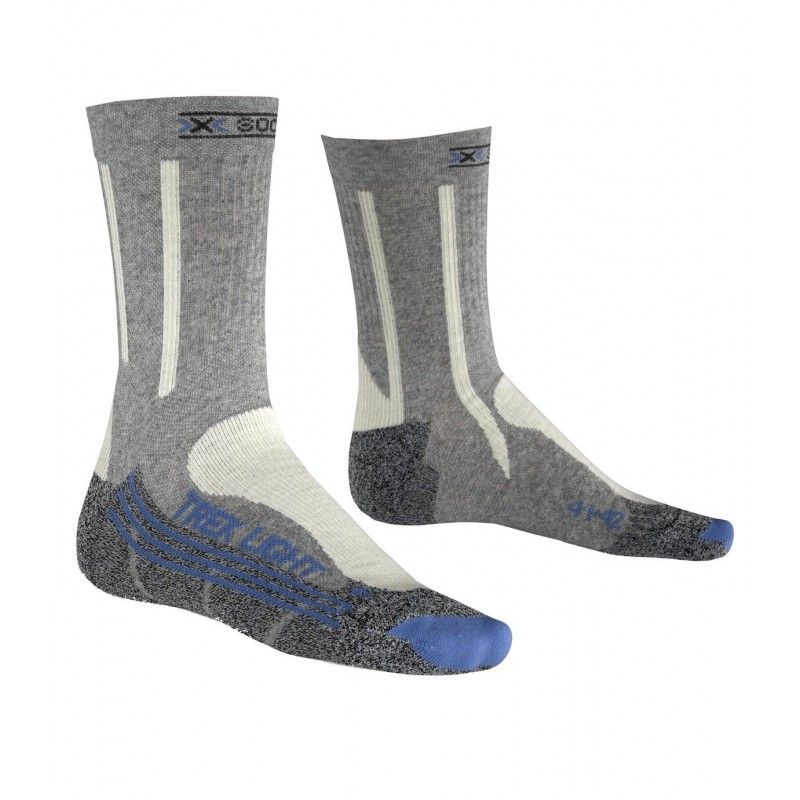 X Socks Trek Light Femme - gris/ecru