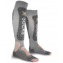 X Socks Skiing Light Lady Femme - gris/rose