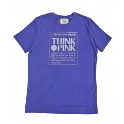 Think Pink Big sur Tee homme - violet