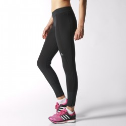 Adidas Clima Heat brushed collant Femme noir collant running