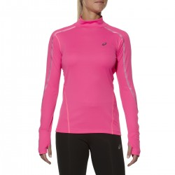 Asics Lite Show top ml Femme - rose T-shirt running