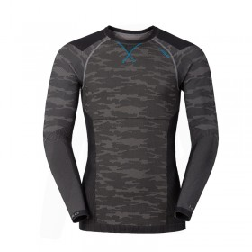 Odlo Blackcomb Evolution Warm Shirt Homme - camo/bleu